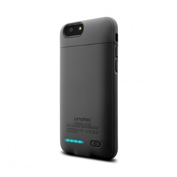 2744ae7ef68 Unotec Funda Batería para Iphone 6/6S Plus Negra - Compra Online en  Costomovil