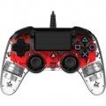 Nacon Compact Controller Wired para PS4 Iluminado Rojo