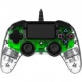 Nacon wired illuminated compact controller green oficial PS4