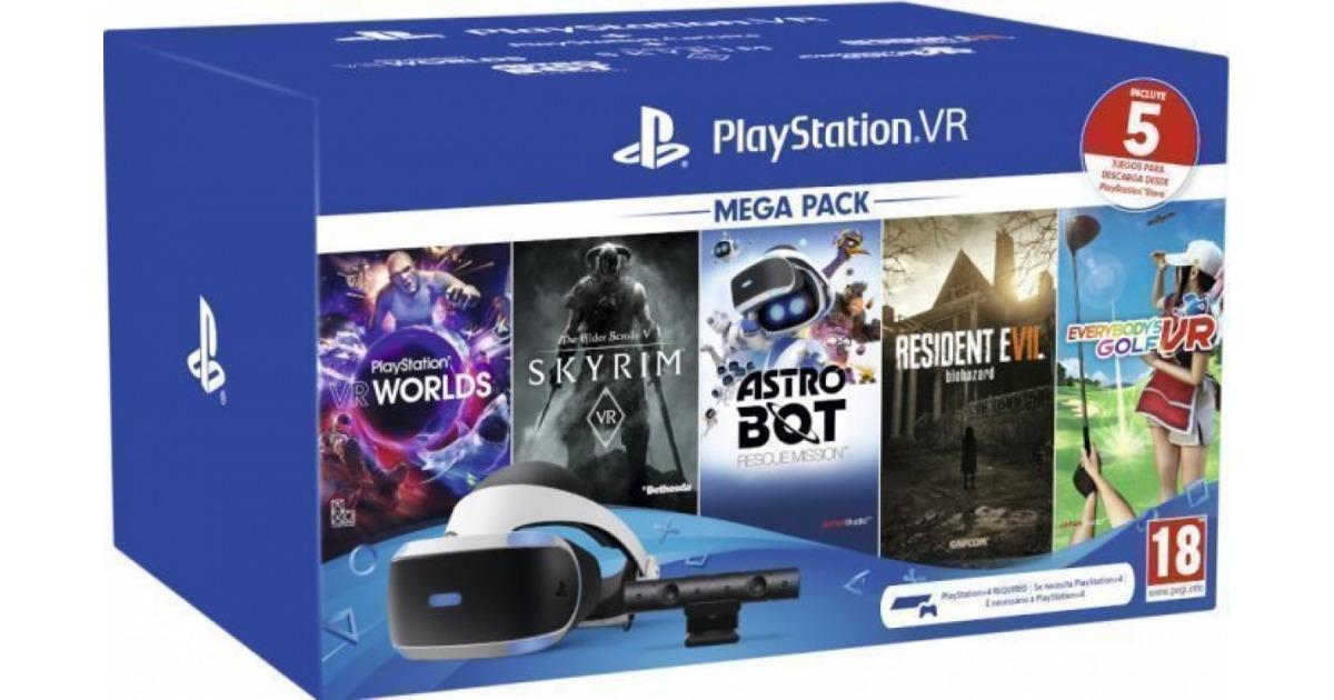 Pack Sony VR Gafas Realidad Virtual Versión 2 + PS4 Camera V2 + Megapack 319,95 € Costomovil