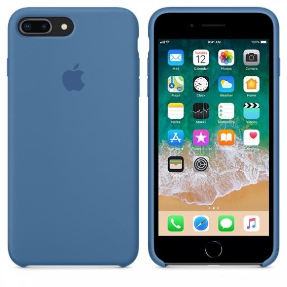 f1872ce4252 Funda Silicona Apple iPhone 8 Plus/7 Plus Azul Vaquero - Compra Online…