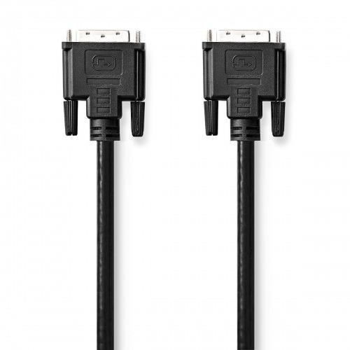 cable DVI | DVI-D 24 + 1-Pin Macho | DVI-D 24 + 1-Pin Macho | 1080p | Niquelado | 3.00 m | PVC | Negro | Bulk