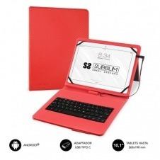Funda con Teclado Subblim Keytab Pro USB para Tablets de 10.1