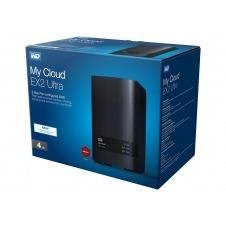 WD My Cloud EX2 Ultra WDBVBZ0040JCH - Dispositivo de almacenamiento en la nube personal - 2 compartimentos - 4 TB - HDD 2 TB x 2 - RAID 0, 1, JBOD - RAM 1 GB - Gigabit Ethernet - iSCSI