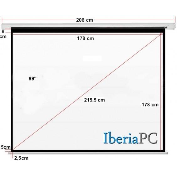 Pantalla proyector eléctrica 133 formato 4:3 (274 x 206 cm)