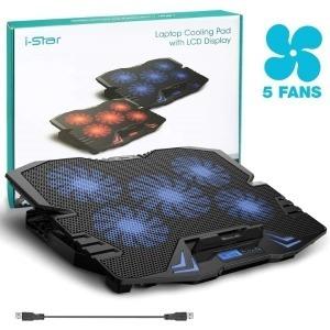 """Base de Refrigeración Gaming para Portátil 12""""-15,6"""" 2500 rpm USB Azul (Reacondicionado A+)"""