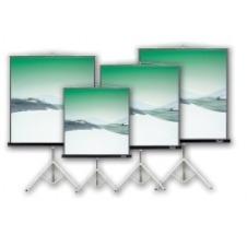 Klip Xtreme KPS-102B - Projection screen with tripod - 86 in ( 218 cm ) - 4:3 - Matte White - black