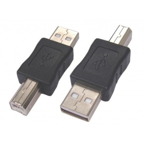 Adaptador USB tipo A Macho a B Macho