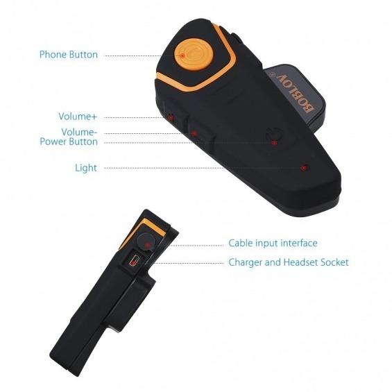 Intercomunicador Bluetooth para moto
