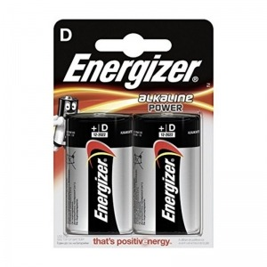 Pilas Energizer Alkaline Power D LR20 (2 uds)