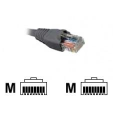 Nexxt - Cable de interconexión - RJ-45 (M) a RJ-45 (M) - 2.1 m - UTP - CAT 5e - moldeado, trenzado - gris