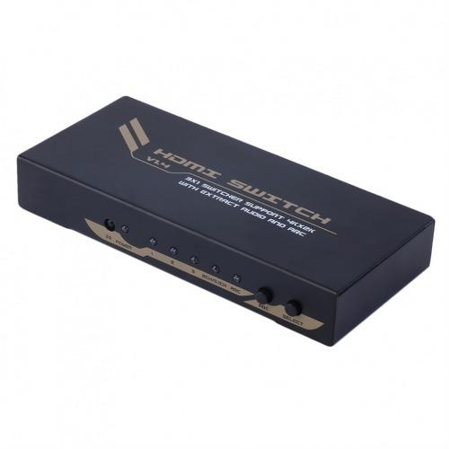 Conmutador / Switcher HDMI 3x1. UltraHD 4k x 2k con extracción de audio (Digital coaxial o Toslink) y ARC