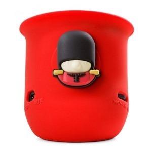 Altavoz Portátil Bluetooth+ Micrófono Bone Play Queen Guard Rojo