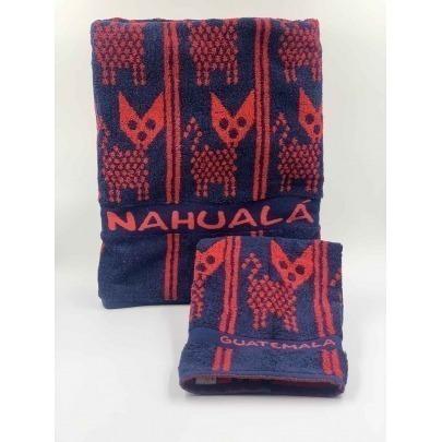 Toalla de Baño con Diseño Típico de Nahualá Marca Cantel