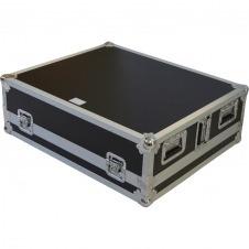 Flight Case Yamaha® MGP24X/ Soundcraf® SI IMPACT/ Allen&Heath® GLD80 Plata (Ruedas).