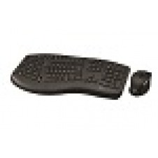 Klip Xtreme - Keyboard and mouse set - Spanish - Wireless - 2.4 GHz / USB - Black - Ergonomic - Scroll