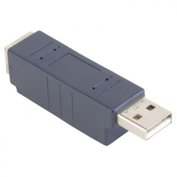Aadaptador USB tipo A (Macho) a Tipo B (Hembra)