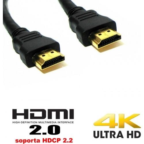 Cable HDMI negro versión 2.0 ultra HD - 12,50m