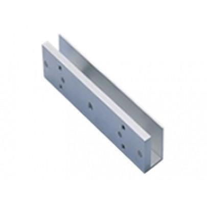 ZKTeco - AL-180PU - Magnetic lock bracket - Magnetic lock bracket in frameless glass door - For installation the subplate of 180kg series magnetic locks 8-12mm thick frameless glass doors - 0.33Kg - 1