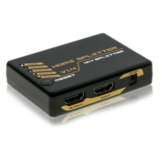 Splitter 1x4 HDMI 1.4 FULL HD , 3D y 4Kx2K