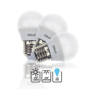 Pack 3 Bombillas LED G45 / 7W / 510LM / E27 / Luz Fría / ELBAT