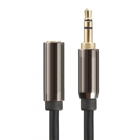 Cable de audio estéreo jack 3.5mm macho a hembra de 5m apantallado