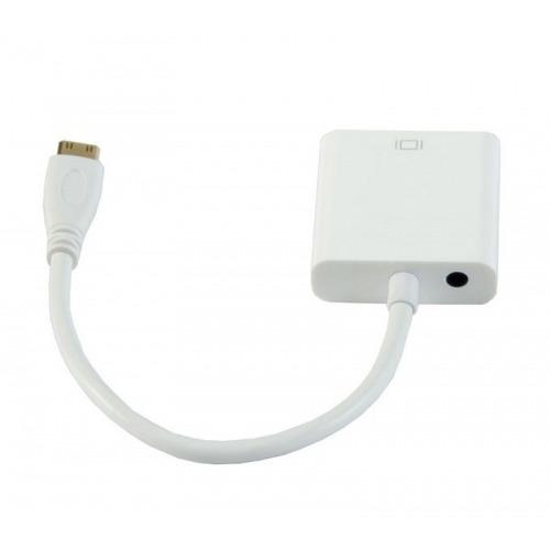Conversor de miniHDMI a VGA con audio alimentado