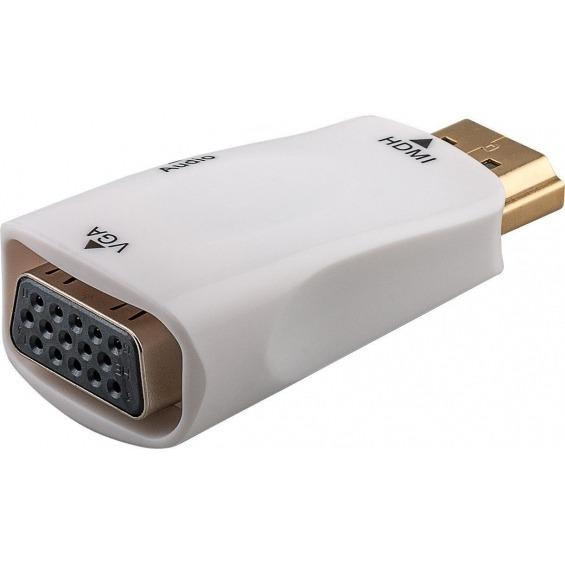 Mini conversor de HDMI a VGA con audio color Blanco