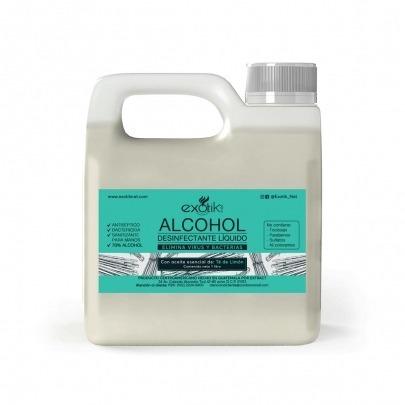 Alcohol Líquido para Desinfectar con Té de Limón de 1 Litro Exotik Nat