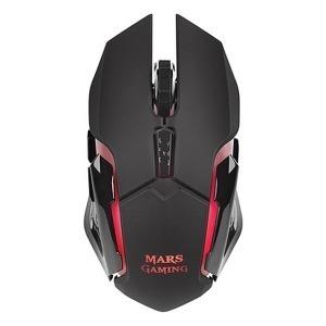 Ratón Gaming con LED Mars Gaming MMW 3200 dpi Negro
