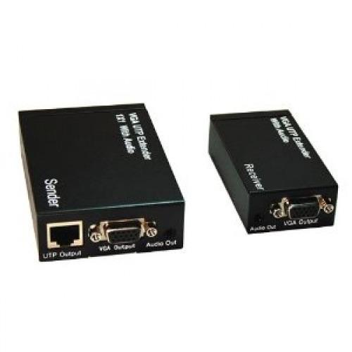 Extender de 1x1 VGA y AUDIO hasta 300m