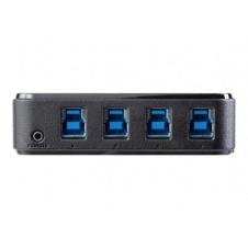 StarTech.com Switch Conmutador USB 3.0 4x4 para Compartir Dispositivos Periféricos - Conmutador - 8 x SuperSpeed USB 3.0 - sobremesa