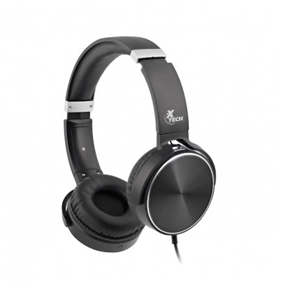 Xtech Spiral - XTH-345 - Headphones with microphone - Wired - Ultimate comfort with soft padded ear cushions and adjustable headband - 40mm drivers deliver crisp and natural sound - Rugged constructio