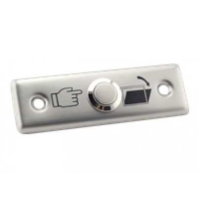 ZKTeco - EX-801A - Push button to open the door - Tested to 500.000 strokes - Stainless steel/aluminium - Simple to install. - Medidas: 800A: 91L ? 28W ? 20T ?mm?
