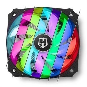 Ventilador NOX NXHUMMERH123RGB Ø 12 cm LED RGB