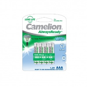 "Recargable ""Always Ready"" AAA 600mAh (4 pcs) Camelion"