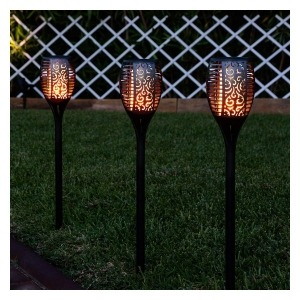 Antorcha de Jardín LED Ledkia A++ 1 W (Negro) (100 lm) (780x120x120 mm)