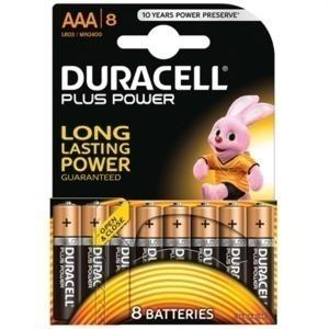 Pilas Alcalinas DURACELL Plus LR03 AAA 1.5V (8 pcs)