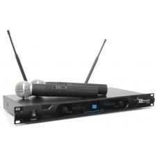 PD722H 2 Canales UHF Microfono Inalambrico con 2 Microfonos