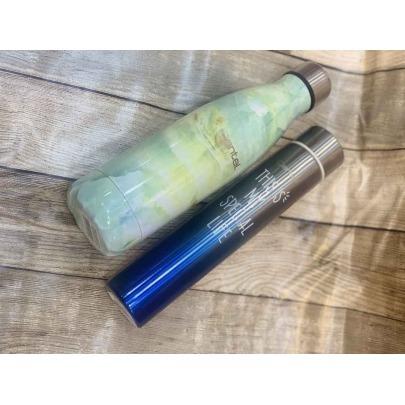 Termo de Acero Inoxidable de 310 ml Plateado y Azul Cantel