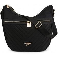 Bolsa negra de zipper marca Laura Biaglotti