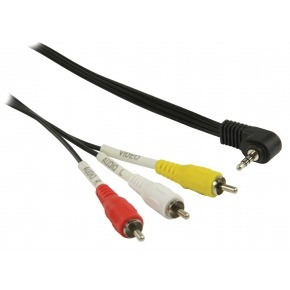Cable MiniJack 3.5-Macho a 3xRCA-Macho 1m