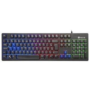 Teclado Gaming NGS GKX-300 PLUG&PLAY USB LED Multicolor Negro