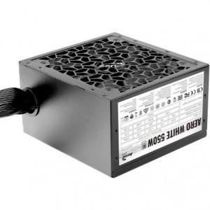 Fuente de Alimentación Gaming Aerocool Aero White/ 550W/ Ventilador 12cm/ 80 Plus