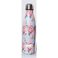 Botella deportiva/termo Cantel , Acero inoxidable, Portatil, color Rosas, medida 500 ml Pulgadas