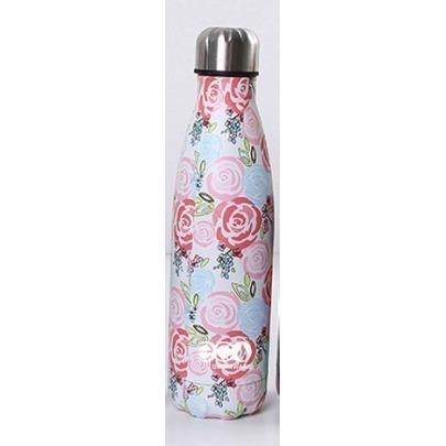 Botella de Acero Inoxidabe de 500 ml con Rosas Marca Cantel