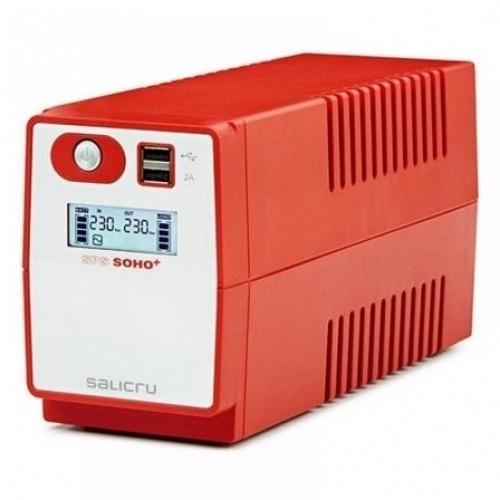 SAI Línea Interactiva Salicru SPC 500 SOHO+ IEC/ 500VA-300W/ 4 Salidas/ Formato Torre