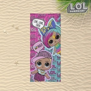 Toalla de Playa LOL Surprise! Rosa (70 x 140 cm)