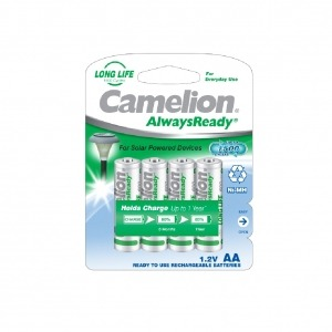 "Recargable ""Always Ready"" AA 600mAh (4 pcs) Camelion"