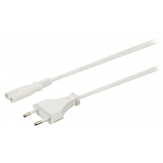 Cable Europeo-IEC-320-C7 Blanco 2m